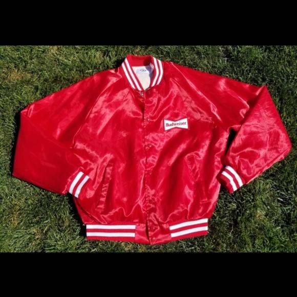 Vintage 1980's Budweiser Bomber Jacket
